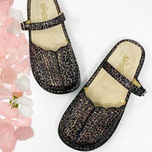 Alegria Shoes - Alegria Tuscany Leather Leopard Clogs NWOT Sz 41
